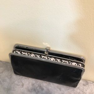 Hobo patent leather clutch